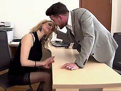 Blonde, Blowjob, Office, Secretary
