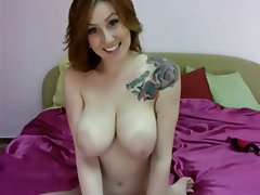 Big Boobs, Nipples, Redhead, Webcam